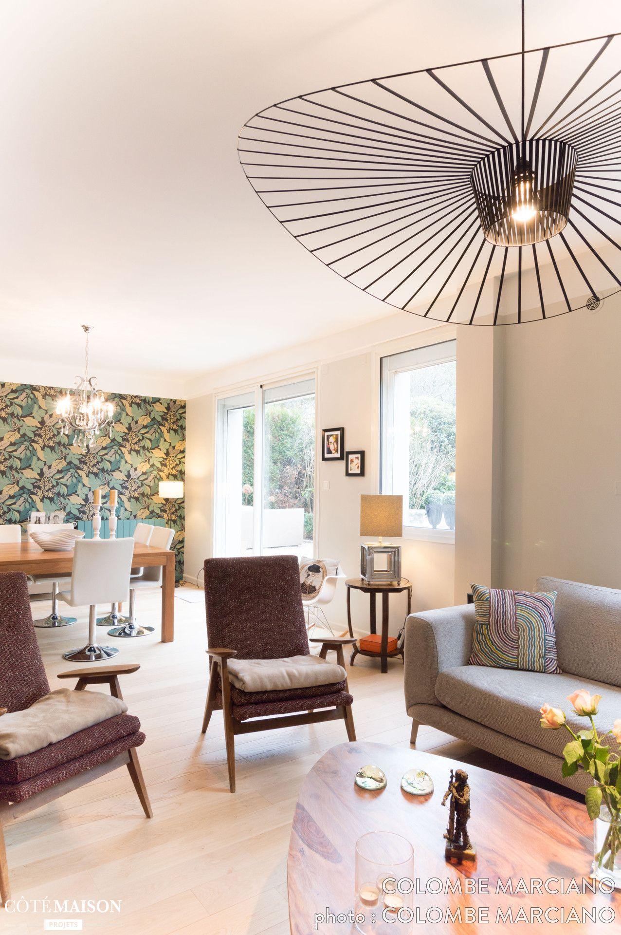 Salon lumineux et harmonieux avec sa suspension vertigo - Salon lumineux ...