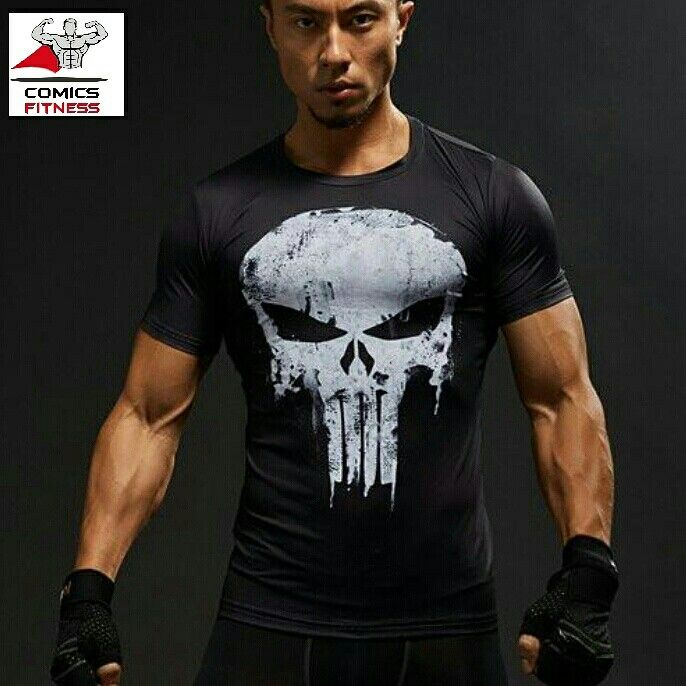 09766db52aa115 TEE-SHIRT DE COMPRESSION THE PUNISHER à -50% AUJOURD HUI ...