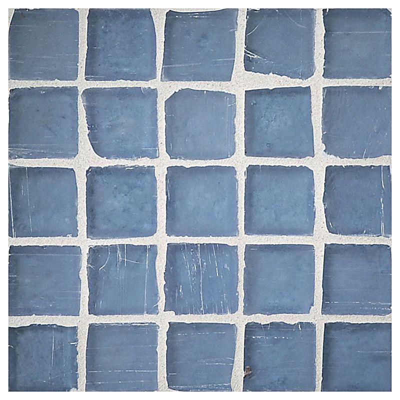 Complete Tile Collection Luna Glass Baltic Blue Silk Finish 1 Square Mosaic Mi 038 G2 260 201 Mosaic Ecofriendly Mosaic Glass Mosaic Tiles Mosaic