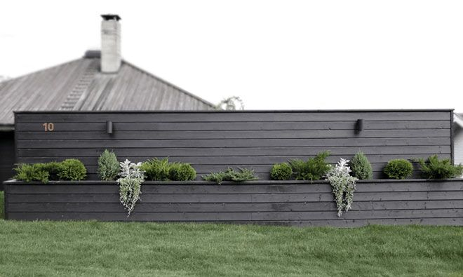 La blomstene få hedersplass på uteplassen. Gjør det selv, bygg en integrert blomsterkasse og mal i husets farge!