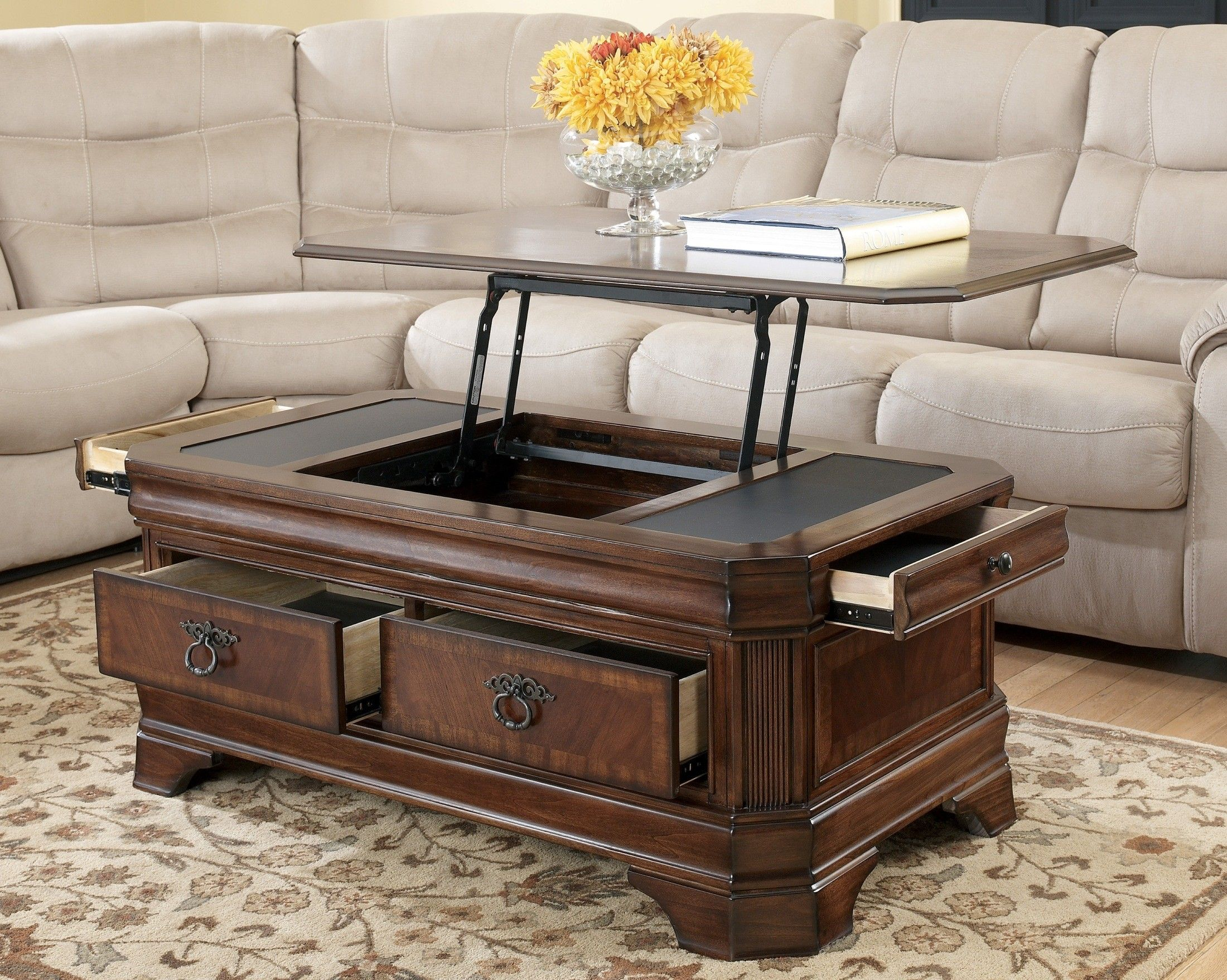 Hamlyn Rectangular Lift Top Cocktail Table Coffee Table Cool
