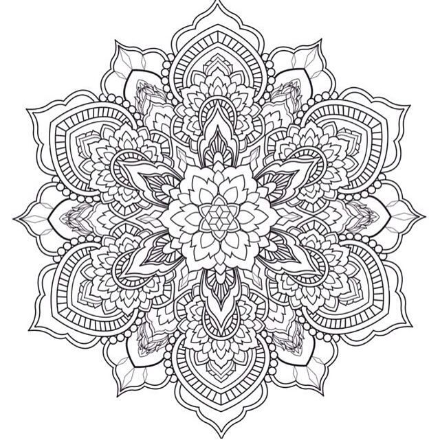 intricate mandala coloring pages free - photo#23