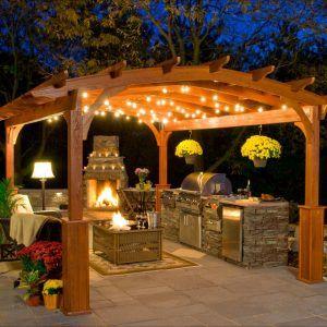 Outdoor Hanging Lights For Gazebos Backyard Dining Pergola Backyard