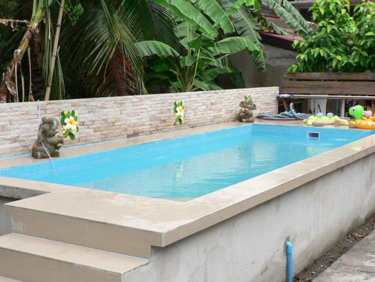 20 Luxurious Above Ground Pool Designs Pool Water Features Above Ground Swimming Pools Swimming Pools Backyard
