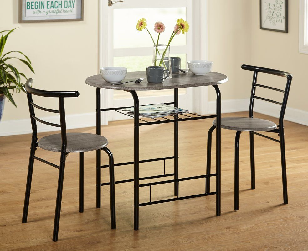 Labor Day Sale 77 Volmer 3 Piece Compact Dining Set Dining