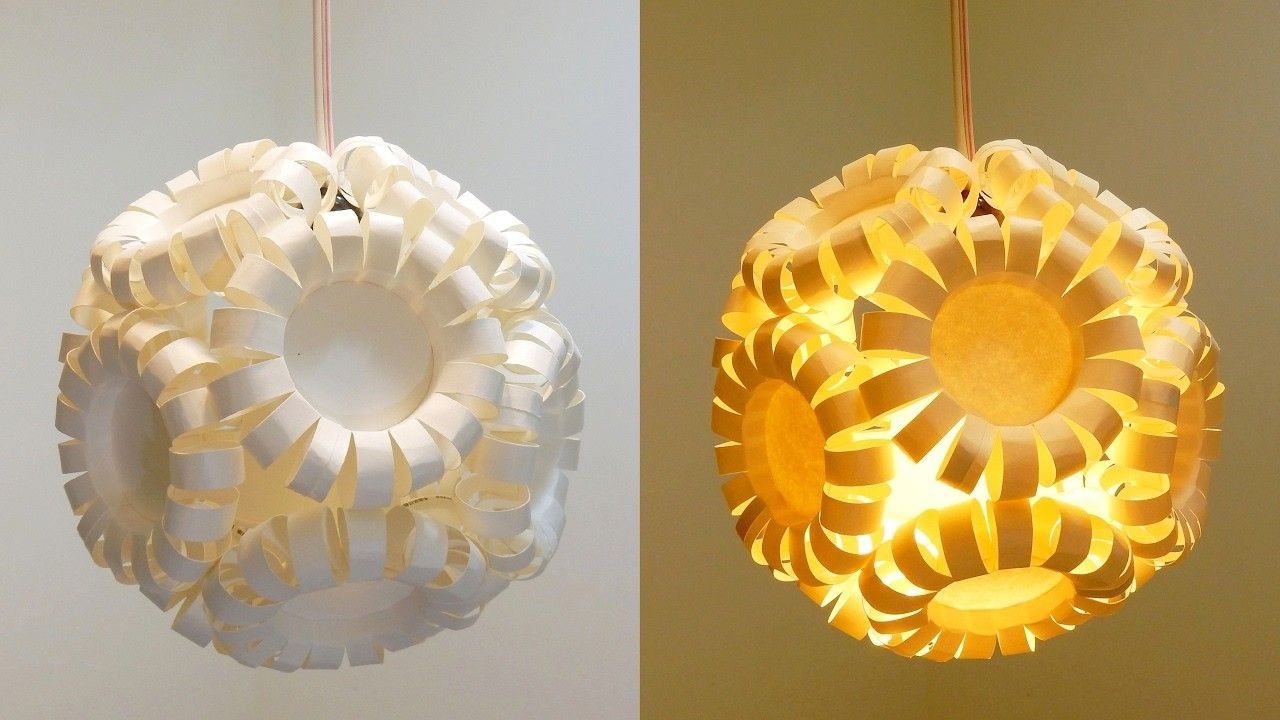 Lampada Origami Di Edward Chew : Paper cup lantern diy best out of waste project ezycraft diy