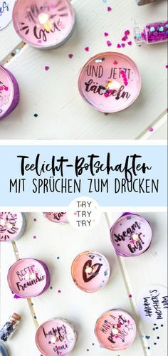 DIY gifts: tealight messages for birthdays, New Years Eve or just like that  – Geschenkeideen