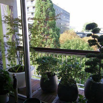 avant apr s un balcon sans charme transform en terrasse japonisante decoration pinterest. Black Bedroom Furniture Sets. Home Design Ideas