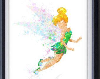 Tinkerbell Kinderzimmer ~ Disney watercolor u2013 etsy disney watercolor tat inspiration