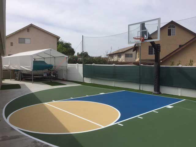 Basketball Court Backyard Outdoor, Outdoor Basketball Court Paint Ideas