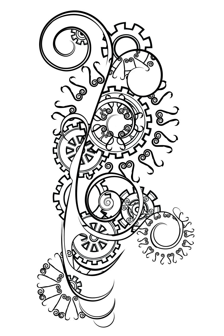 Tattoo gear tattoo sleeve mechanic tattoo mechanical tattoo gears - Cool Bike Gear Design For Pyrographing It To The Next Piece Of Furniture What Will Motorcycle Tattoosbike