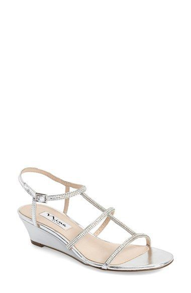 a6997fa1005b Nina  Floria  Embellished Wedge Sandal (Women) available at  Nordstrom