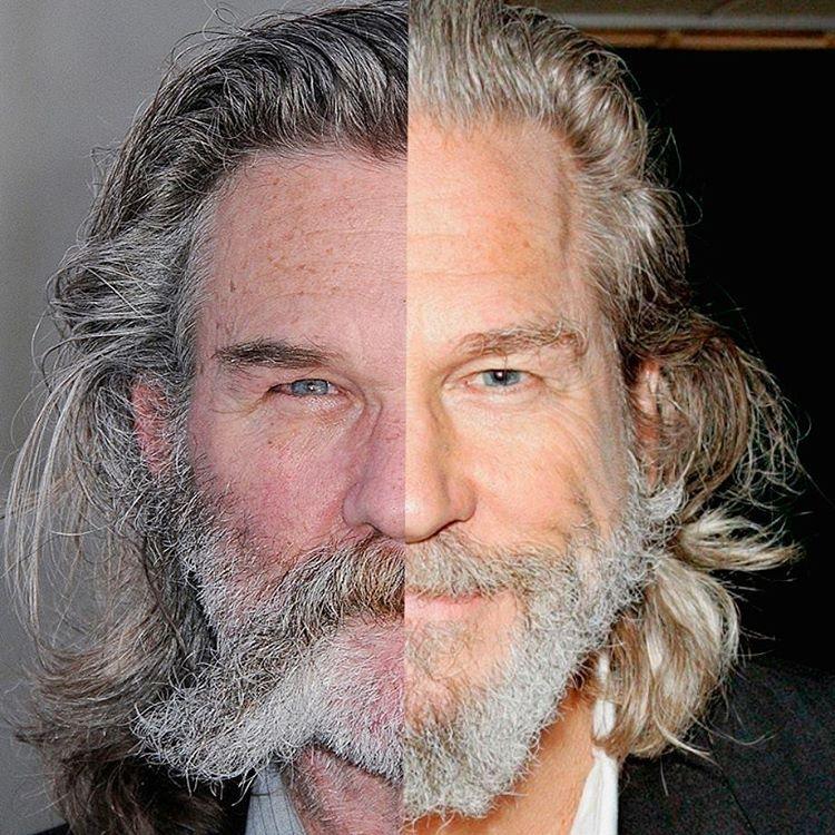 Kurt Russel x Jeff Bridges | Beard no mustache, Beard ...