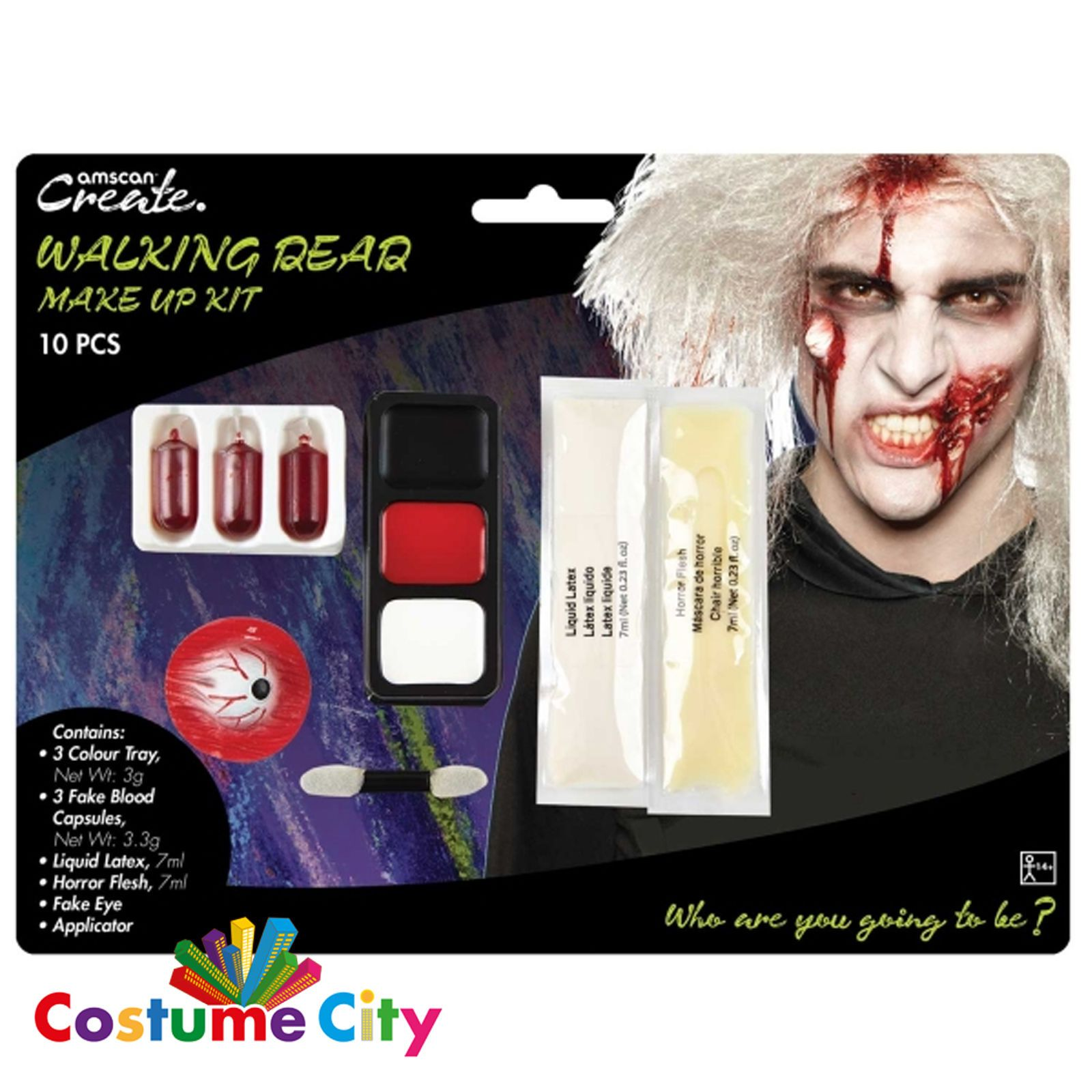 Halloween Walking Dead Zombie Face Paint Special Effects Fx Make Up