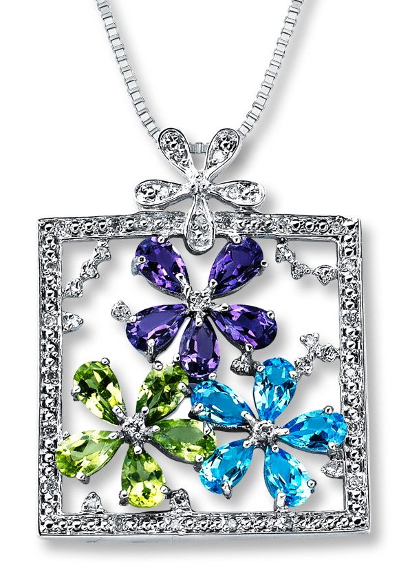 A pretty Multi-Gemstone Necklace