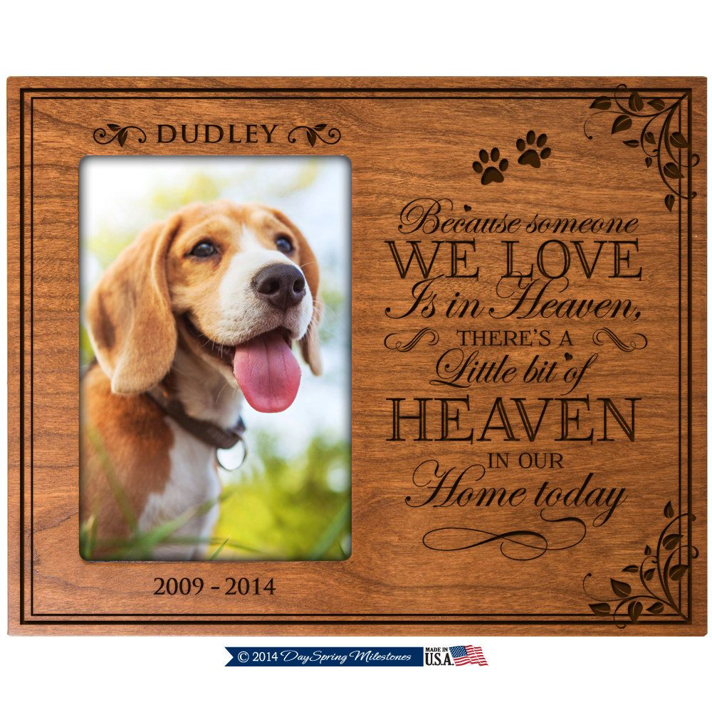 In Loving Memory Gifts, Pet Memorial gift ,Pet memorial frame, Dog ...