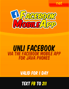 Unli Facebook Promo Connect to friends and families for