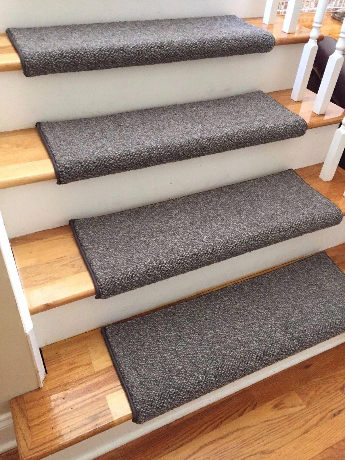 Tweed Grnt Drkbrwn Ecco Tex Blend New Zealand Wool True Bullnose Carpet Stair Tread Runner Replacement Fo Carpet Stair Treads Stair Runner Carpet Stair Treads