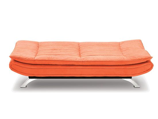 Dania Furniture Calam Futon A Truly Unique Design Inspired By An Orange Raft