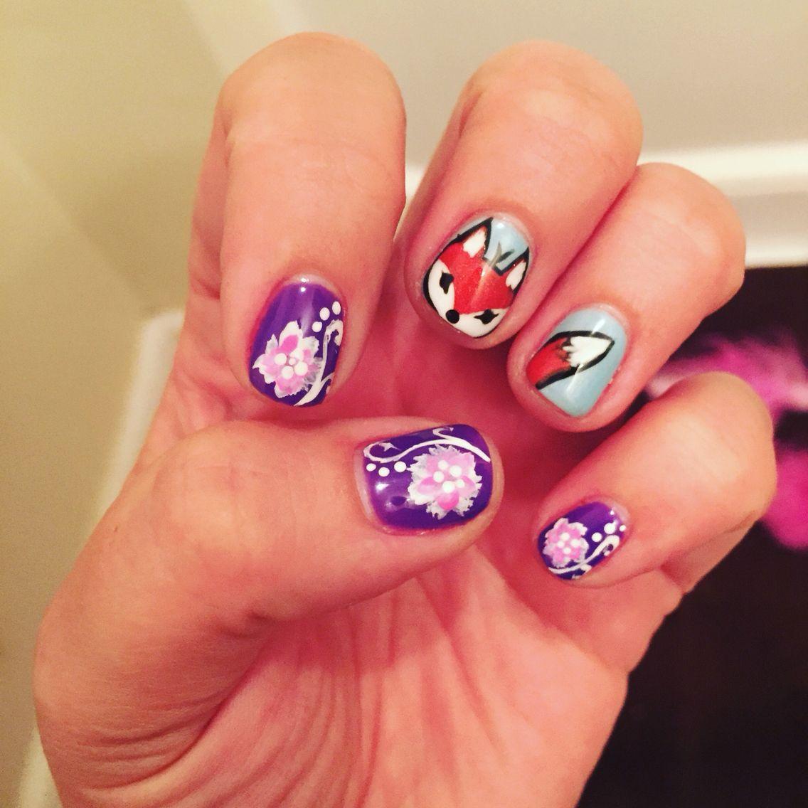 Fox nails, purple nail designs | Nail Art | Pinterest | Fox nails ...