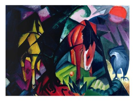Horse and eagle, Franz Marc