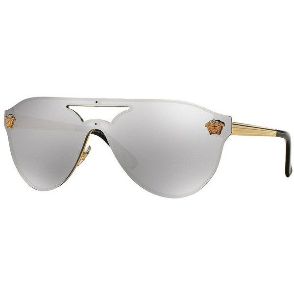 6e7cf300497a Versace Pilot Sunglasses ( 280) ❤ liked on Polyvore featuring accessories