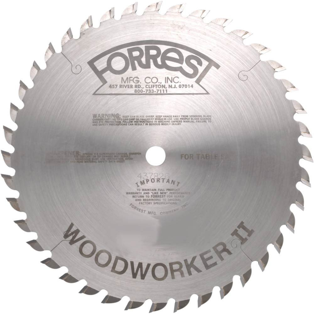 10 X 40t Atb Forrest Woodworker Ii General Purpose Blade Best Circular Saw Saw Blade Storage Woodworking
