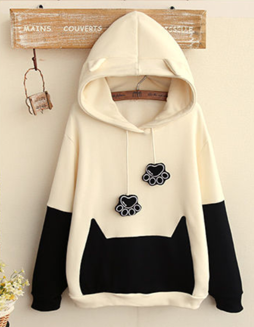 Cat Paw  Hooded  Pullover. Paw jacket ... de68b86d3fbb
