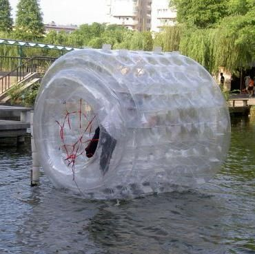 The Water Roller Is An Inflatable Human Hamster Wheel That Makes A