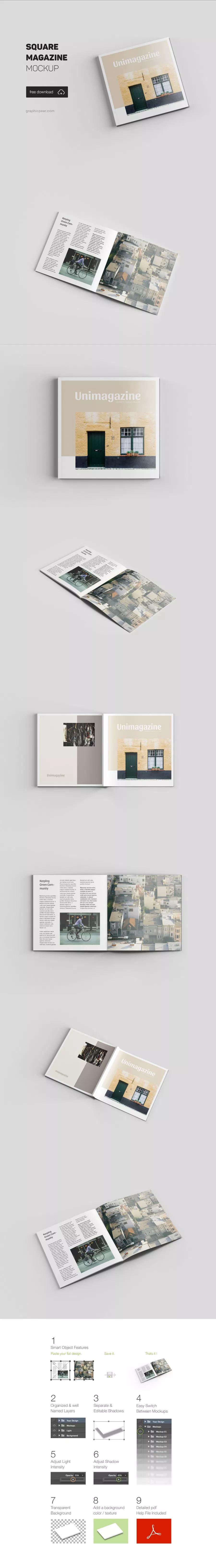 Square Magazine Free Mockup Free Design Resources Diseno De Revistas Editorial Revista Disenos De Unas