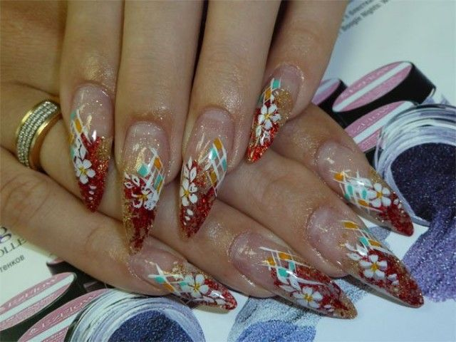 Trendy Acrylic Nails With Jewel For Weddings