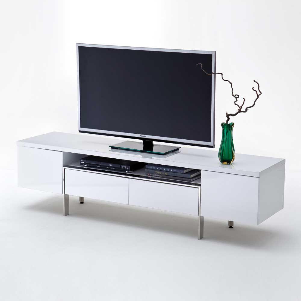 TV Lowboard in Weiß Hochglanz 160 cm Jetzt bestellen unter: https ...