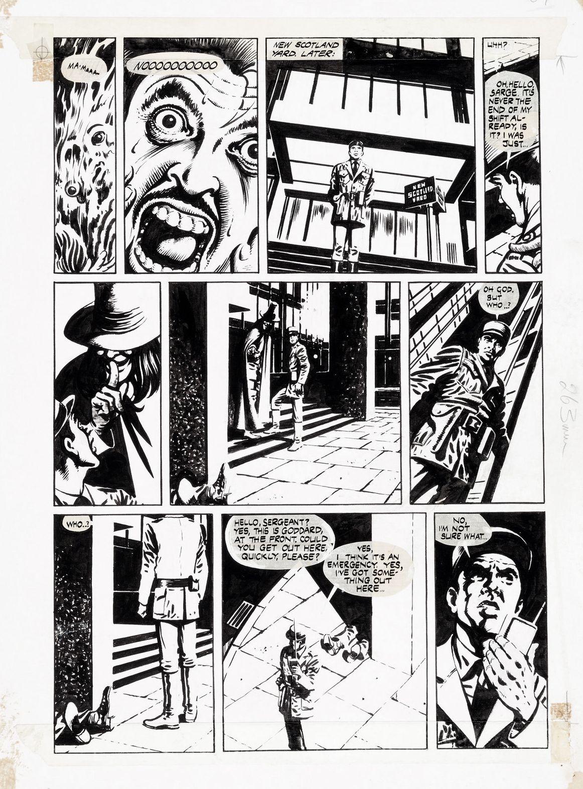 Lloyd V For Vendetta Comic Art Original Art Comic Books