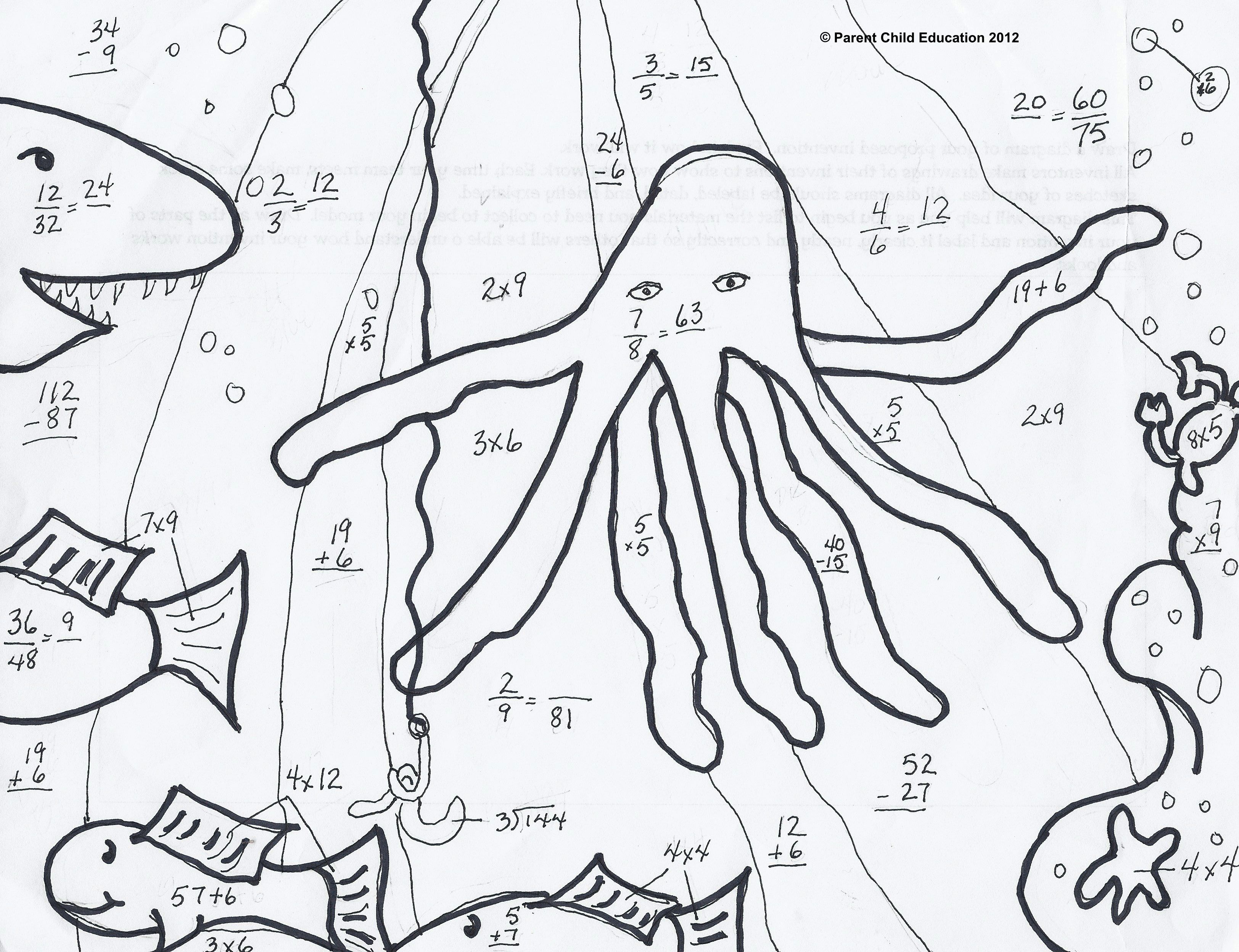 coloring math pages 5th grade mib Halloween coloring