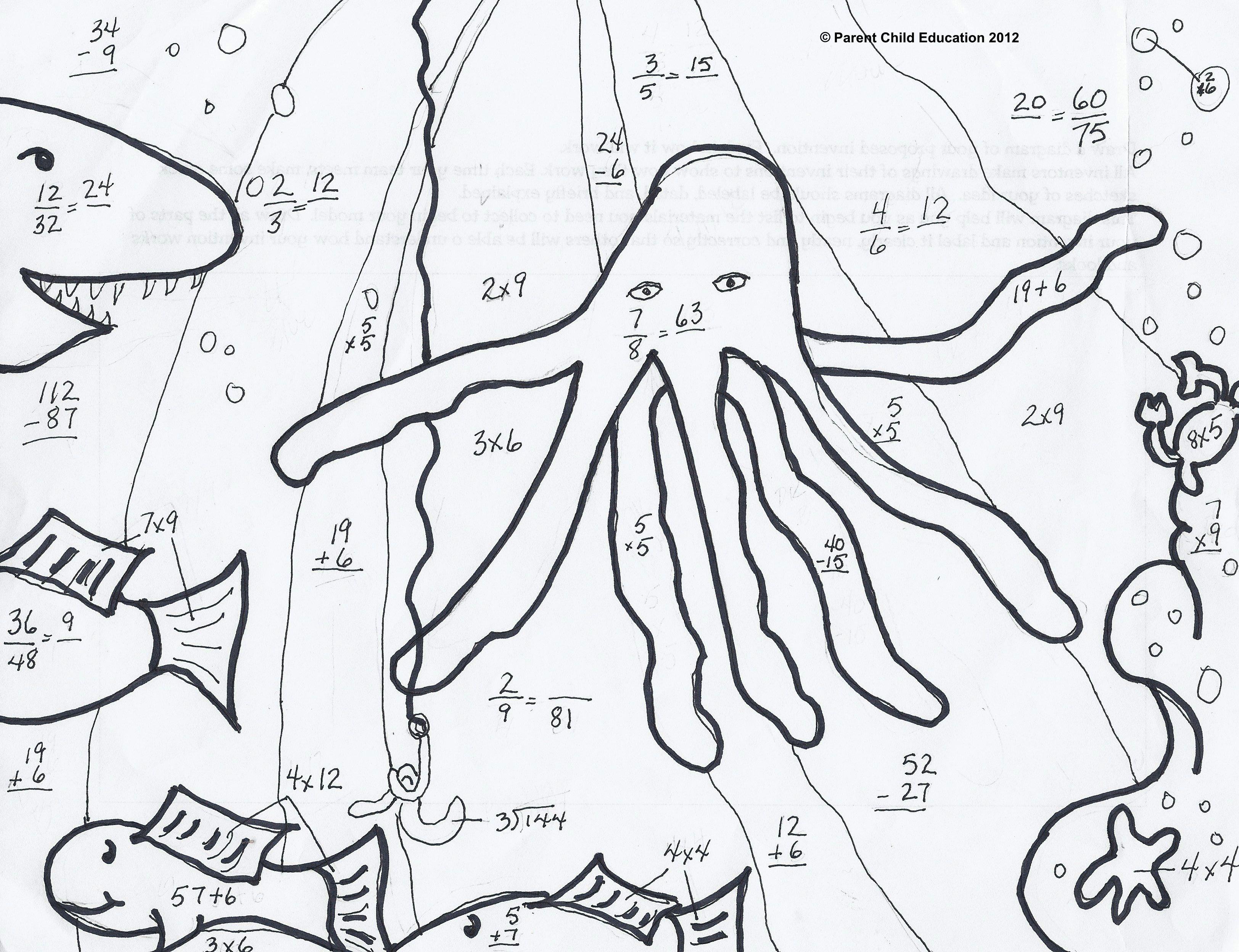 image result for fraction coloring worksheets 5th grade | samowitz