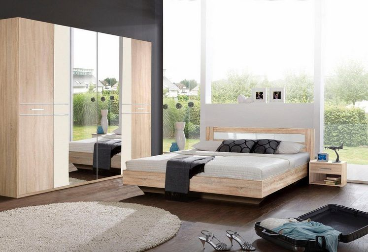 Wimex Schlafzimmer-Set mit Kleiderschrankschrank (4-tlg) Bed room - schlafzimmer set 180x200
