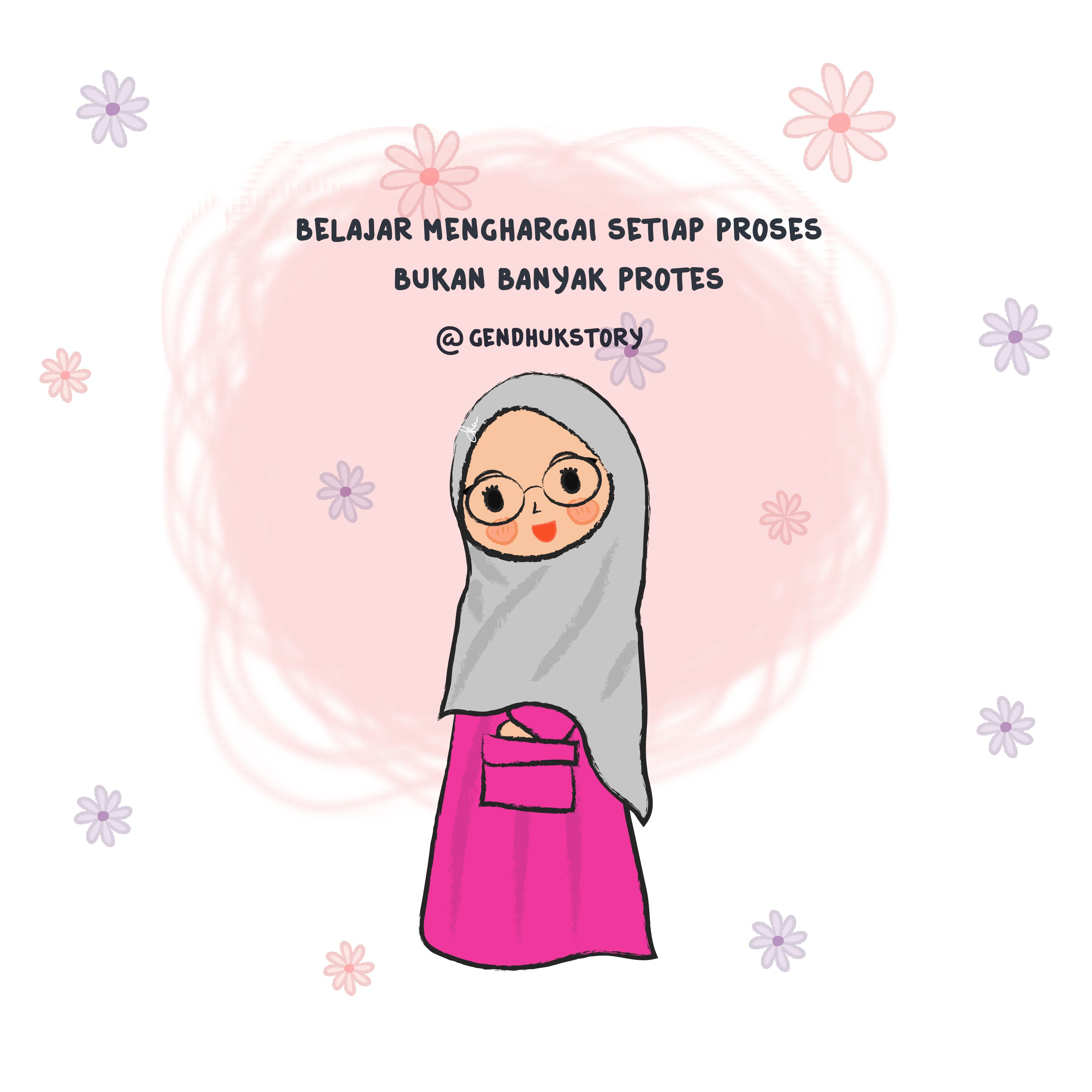Gambar Kartun Pengantin Muslimah Bercadar
