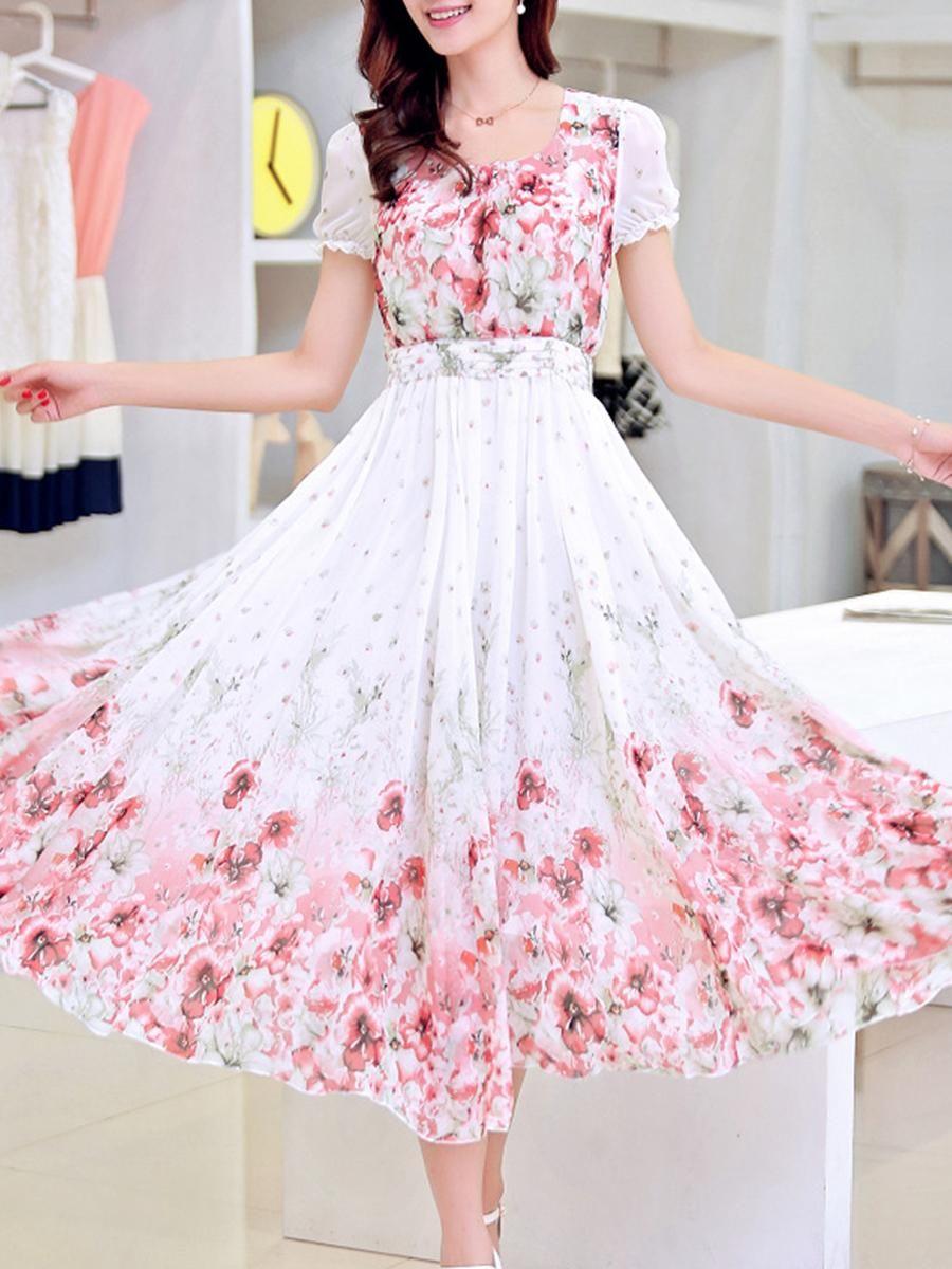 cff806e5b22c  falloutfits  AdoreWe  BerryLook -  berrylook Round Neck Floral Printed  Maxi Dress - AdoreWe.com