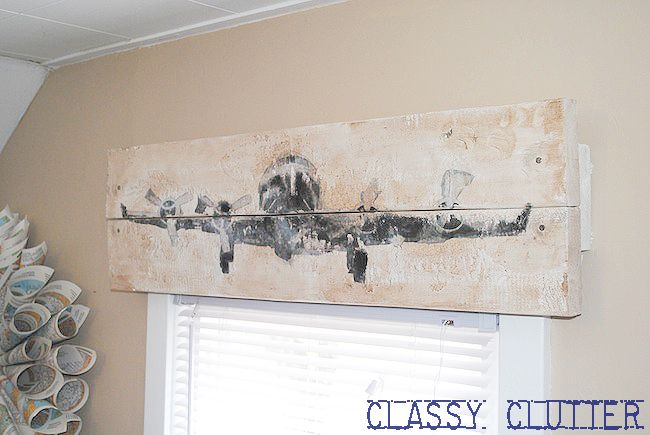 Diy Rustic Airplane Valance Pottery Barn Knock Off