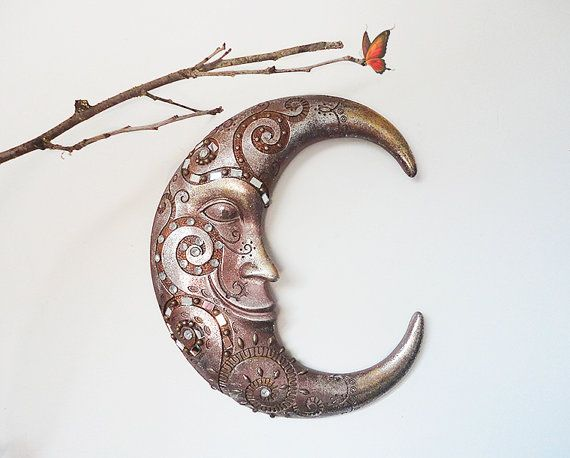 Wood Moon Wall Decor Waning Crescent Home Hanging You Can Find A Similar Item Here