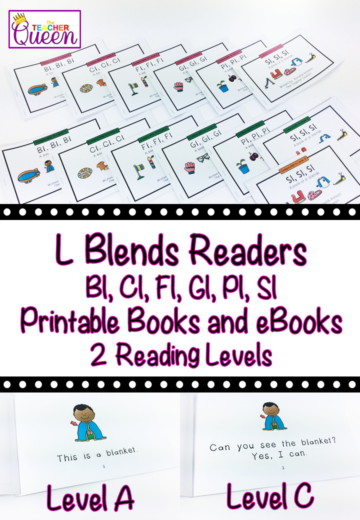 L Blends Readers Bundle Levels A And C Printable Books And Ebooks