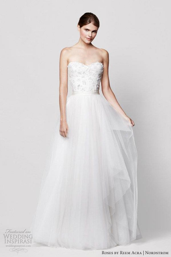 Roses by Reem Acra for Nordstrom Wedding Dresses | Fashion: Wedding ...