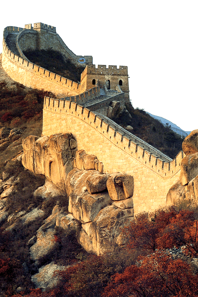Chinese Great Wall ~~ built between 220–206 BC by the first Emperor ...