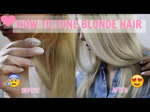 How To Tone Brassy Blonde Hair Demo With Wella T18 T11
