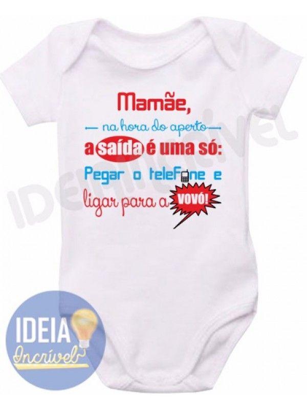 Body Infantil Na Hora Do Aperto Com Imagens Roupas De Bebe Personalizadas Roupas De Bebe Roupas De Bebe Baratas