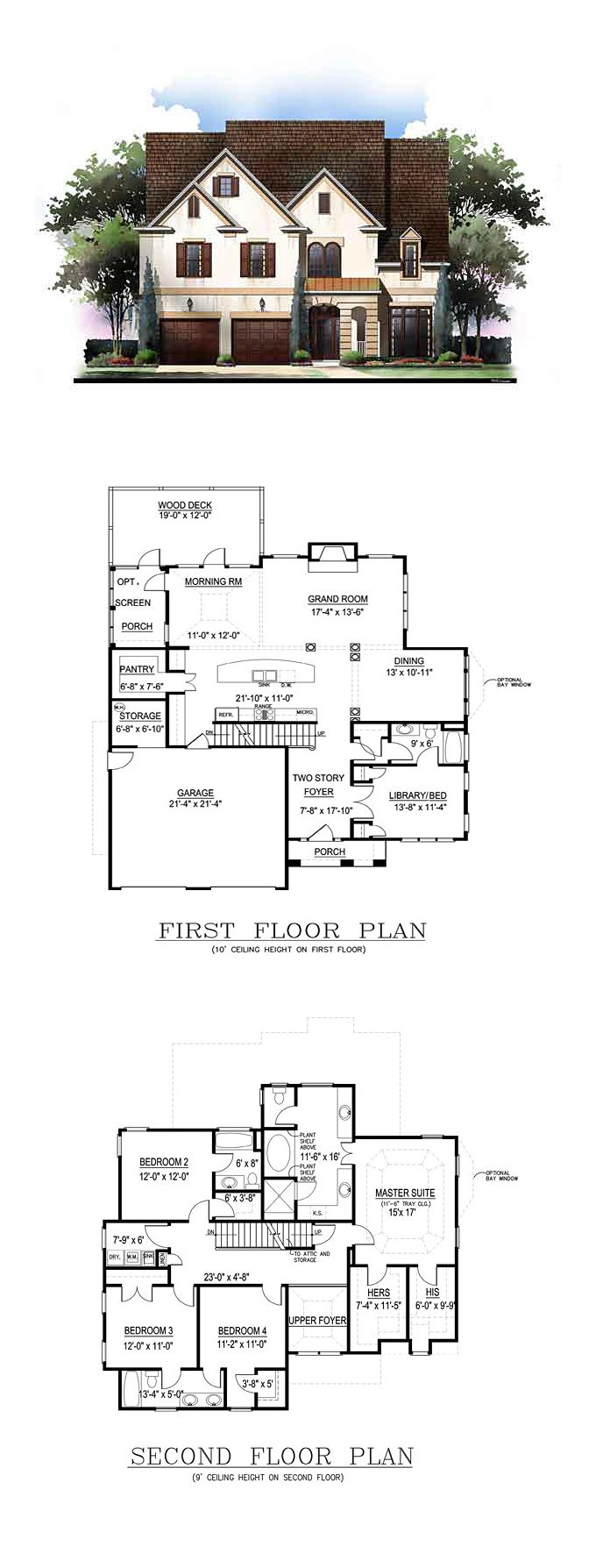 Traditional Style House Plan 72243 With 5 Bed 4 Bath 2 Car Garage Southern House Plans House Blueprints Dream House Plans