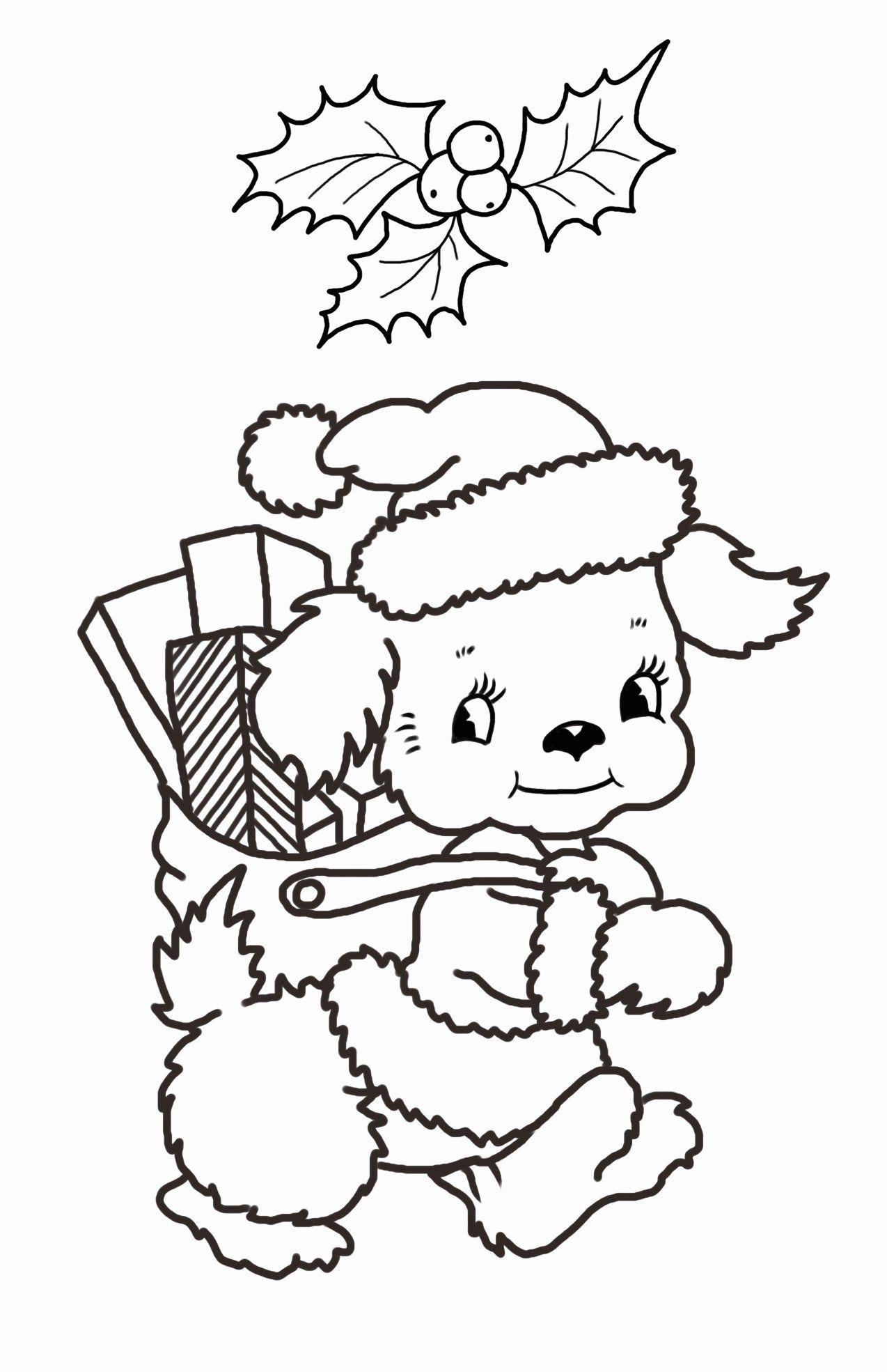 Christmas Puppy Coloring Sheet Fresh Christmas Coloring Pages In 2020 Santa Coloring Pages Christmas Coloring Pages Christmas Drawing