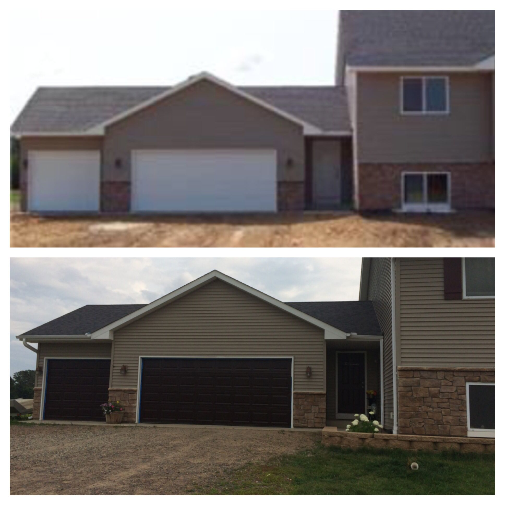 Before And After Garage Doors Gel Stain Homedepot Garage Door Styles Garage Door Design Garage Door Types