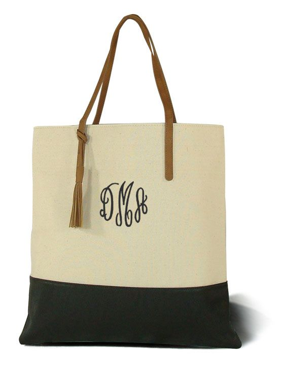 Monogrammed tall tote bag | Giveaways | Pinterest | Bags, Totes ...
