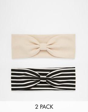 Limited Edition Pack of Two Bow Knot Turban Headbands
